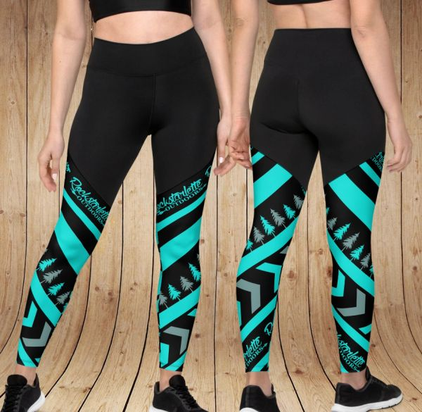 Teal Tree RO Compression Leggings, with Phone Pocket NEW! XS-3XL