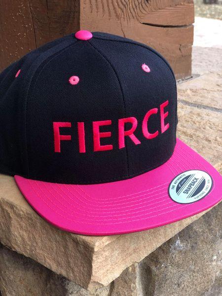SALE 30% OFF, FIERCE Logo Flat Bill Hat, Hot Pink