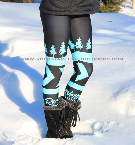 Teal Tree Logo Rockstarlette Outdoors Leggings