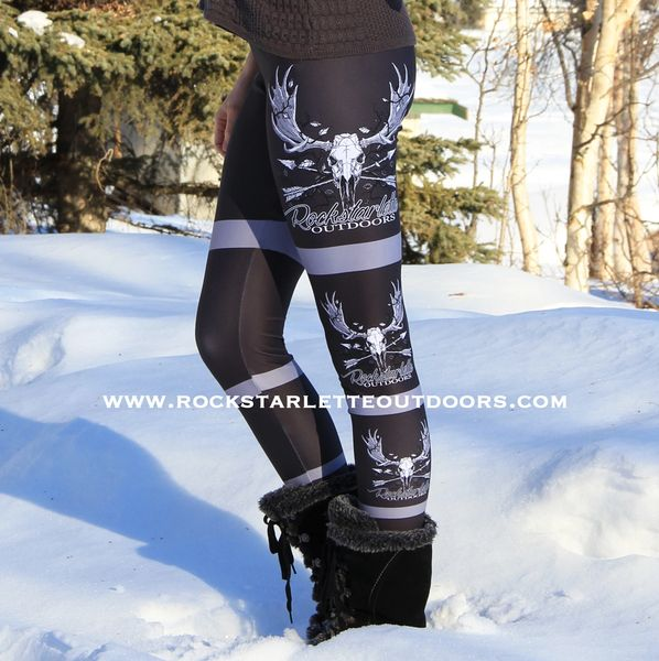 Rockstarlette Outdoors Side Logo Leggings, Archery Moose Logo