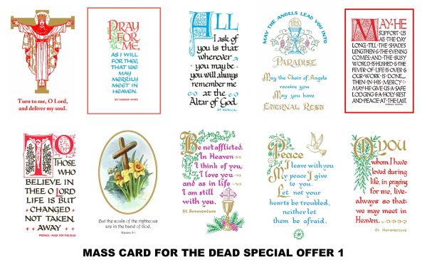 Special Offer Mass Cards 1 (for the deceased)