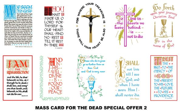 Special Offer Mass Cards 2 (for the deceased)
