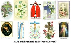 Special Offer Mass Cards 4 (for the deceased)
