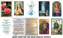 Special Offer Mass Cards 5 (for the deceased)