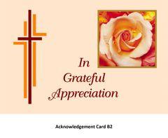Acknowledgement Card B2