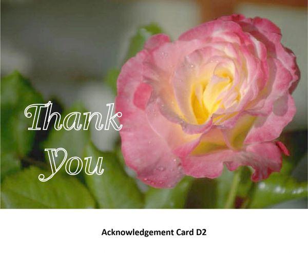 Acknowledgement Card D2