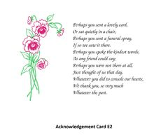 Acknowledgement Card E2