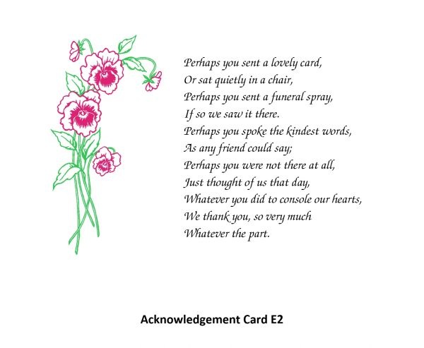 Acknowledgement Card E2