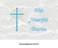 Acknowledgement Card F2