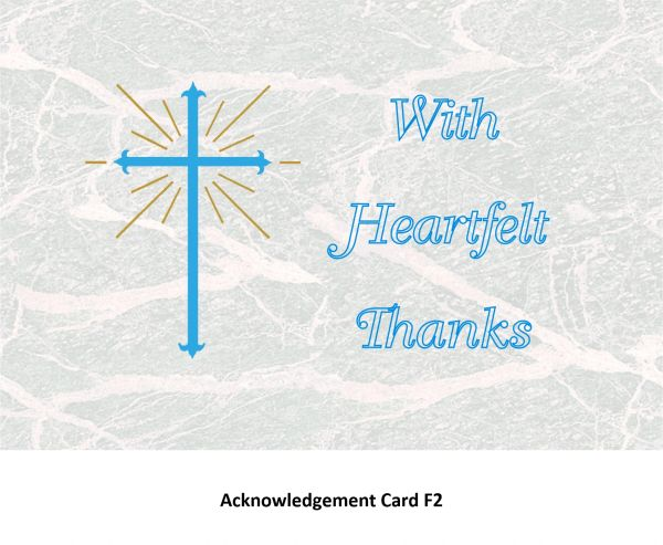 Acknowledgement Card F2