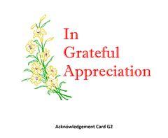 Acknowledgement Card G2