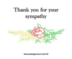 Acknowledgement Card H2