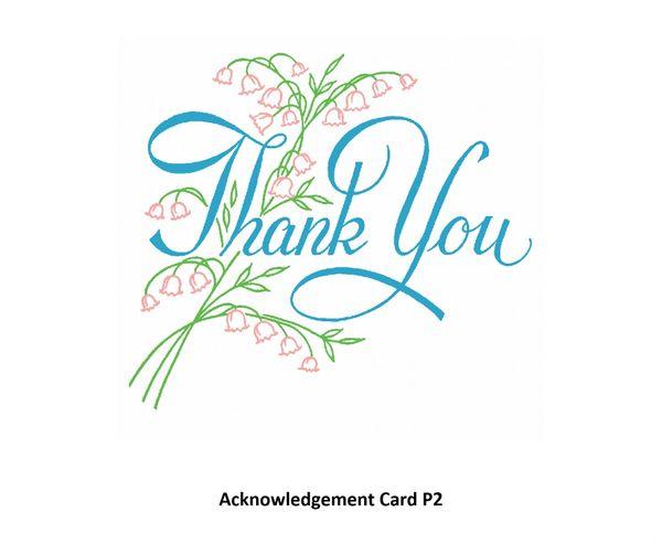Acknowledgement Card P2