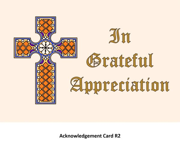 Acknowledgement Card R2