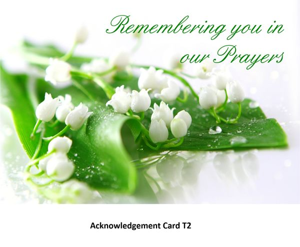 Acknowledgement Card T2