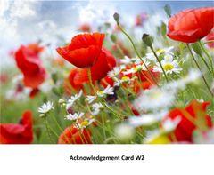 Acknowledgement Card W2