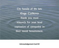 Acknowledgement Card K2