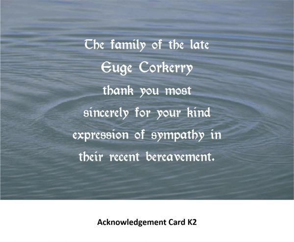 Acknowledgement Card K2