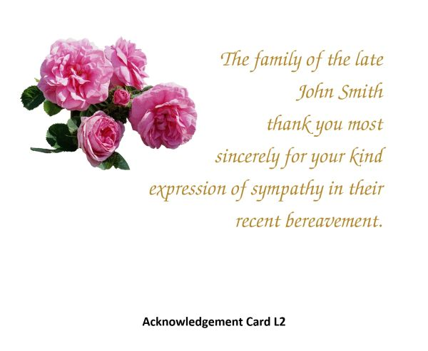 Acknowledgement Card L2