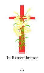 Single Memorial Card 413