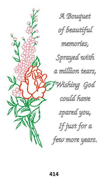 Single Memorial Card 414