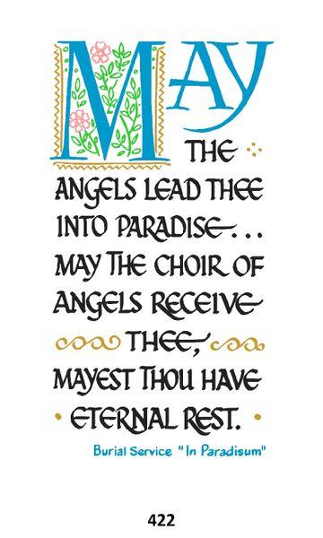 Single Memorial Card 422