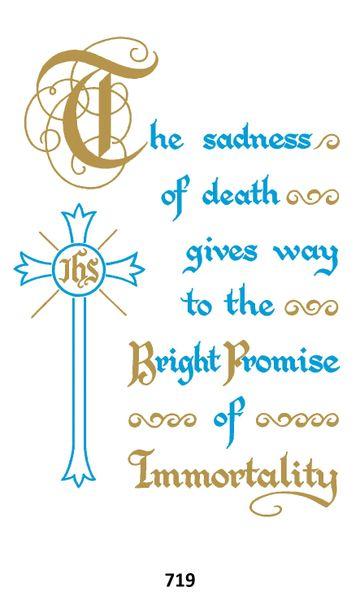 Single Memorial Card 719