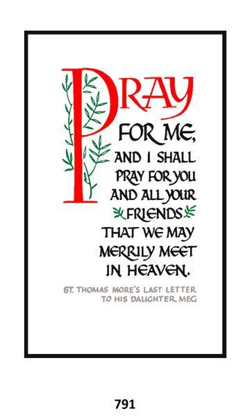 Single Memorial Card 791