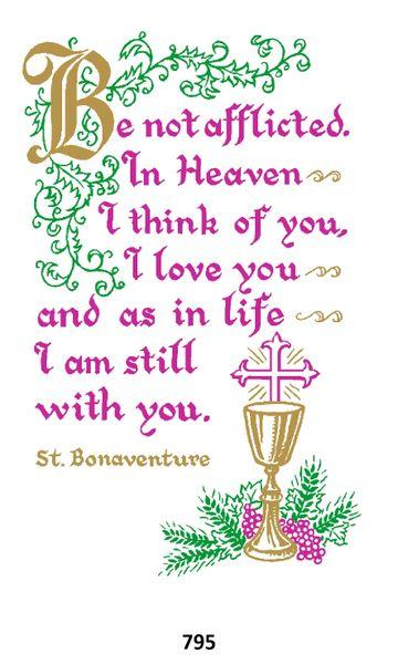 Single Memorial Card 795
