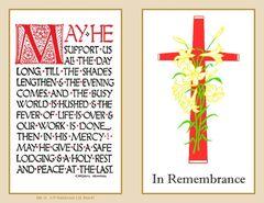 Folder Memorial Card M8