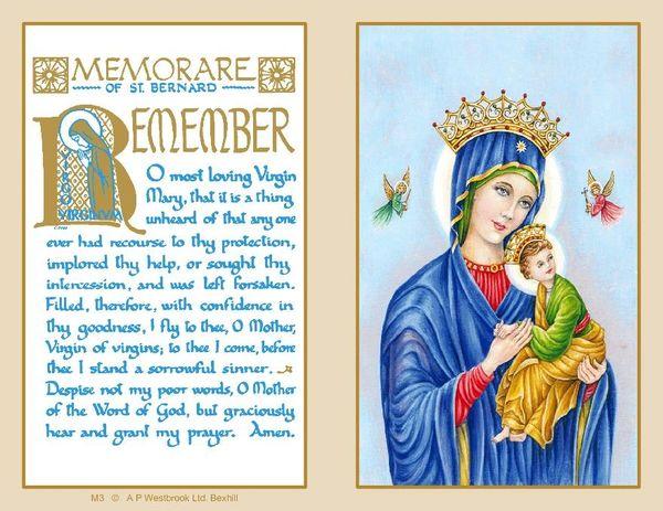 Folder Memorial Card M3