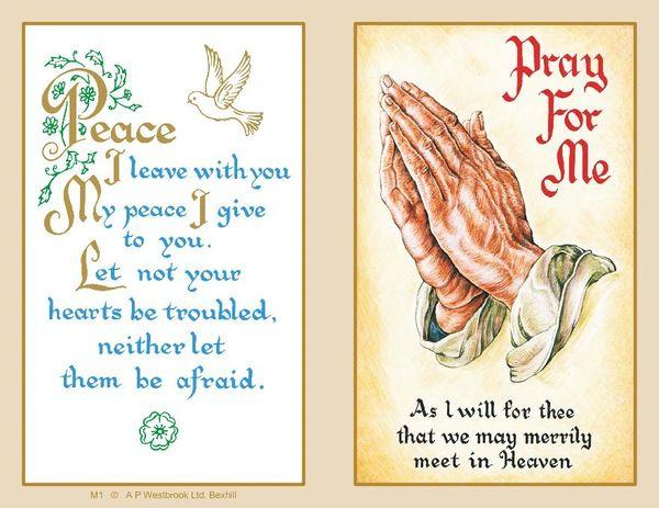 Folder Memorial Card M1