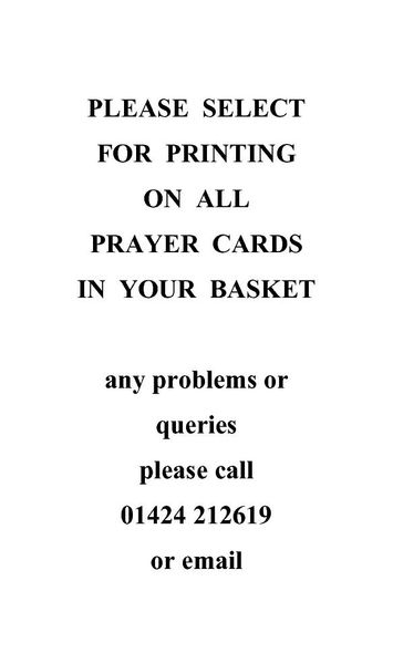 Printing on prayer cards