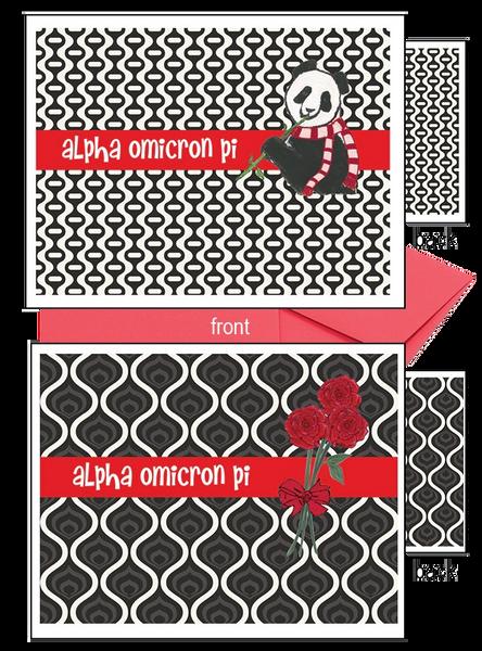 Alpha Omicron Pi Logo Notecards