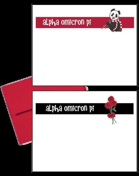 Alpha Omicron Pi Logo Postcards