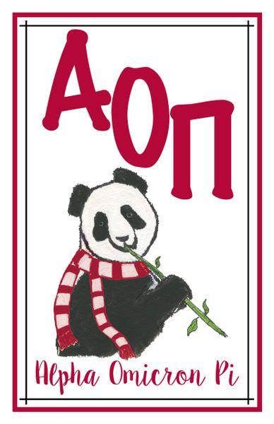 Alpha Omicron Pi Logo Poster