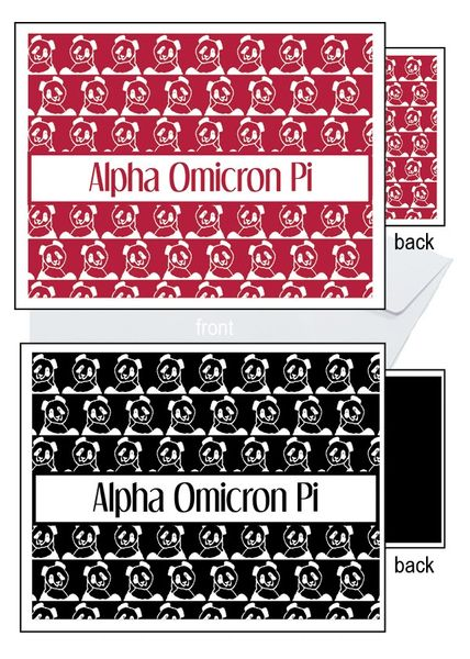 Alpha Omicron Pi Sorority Notecards