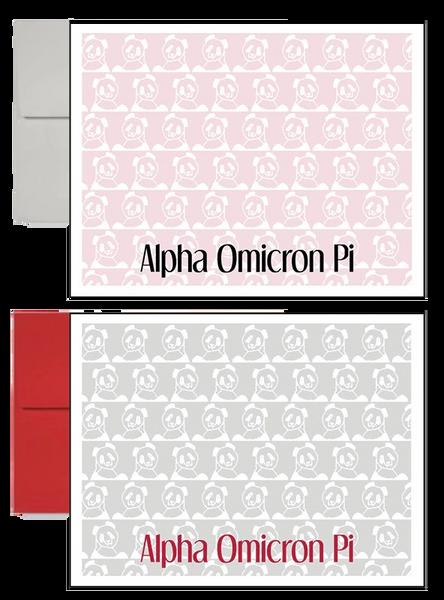 Alpha Omicron Pi Sorority Postcards