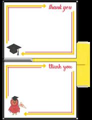 Chi Omega Logo Graduation Postcards