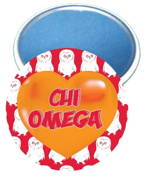 Chi Omega Logo Heart Mirror