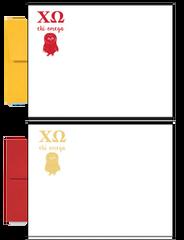 Chi Omega Logo Letter Postcards