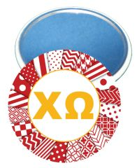 Chi Omega Logo Letters Mirror
