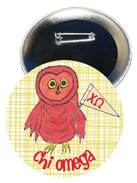 Chi Omega Logo Logo Button