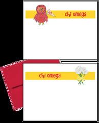 Chi Omega Logo Logo Postcards
