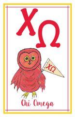Chi Omega Logo Poster