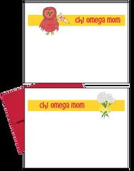 Chi Omega Logo Mom Logo Postcards
