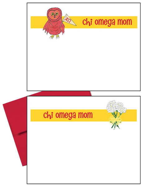 Chi Omega Logo Mom Logo Postcards