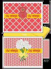 Chi Omega Logo Notecards