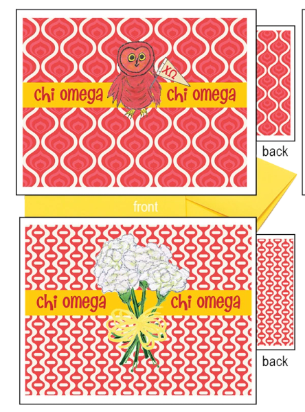 Chi Omega Logo Notecards