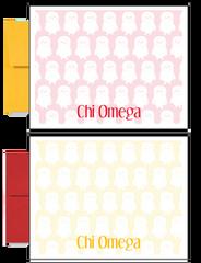Chi Omega Logo Sorority Postcards